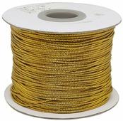 """Шнур для рукоделия """"NoName"""", с люрексом, цвет: золото, 1 мм x 100 м"""