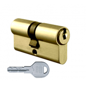 Цилиндровый механизм EVVA ICS ключ-ключ латунь 31x66