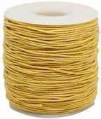 Шнур вощеный, на катушке, цвет: желтый, 1 мм x 100 м