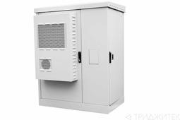 Шкаф уличный всепогодный укомплектованный напольный ЦМО ШТВ-2, IP54, 30U, 1575х1000х600 мм дверь: сплошная, цвет: светло-серый ШТВ-2-30.10.6-К3А3-ТК