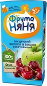 ФрутоНяня сок из яблок и вишни с 5 месяцев, 0,2 л