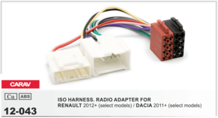 CARAV 12-043 - ISO-переходник для Renault Logan, Sandero, Duster