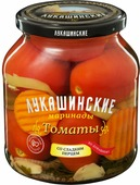 Лукашинские Томаты маринованные по-домашнему со сладким перцем, 670 г