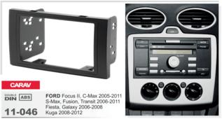 Переходная рамка для установки магнитолы CARAV 11-046 - Ford Focus II, C-Max, Fusion, Transit