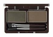 Пудра для бровей The Saem Eco Soul Eyebrow Kit (Gray Brown)