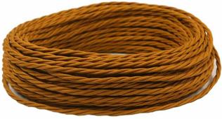 Ретро кабель витой электрический (50м) 2*0.75, медный, ПРВ2075-МДН Panorama