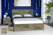 """Кровать Vegas Linea 180x200, массив дуба, """"Серый"""""""