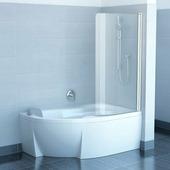 Шторка для ванны Ravak Rosa CVSK1 160/170 R хром+транспарент