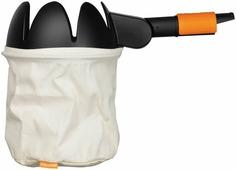 Плодосборник Fiskars QuikFit, без черенка, цвет: черный, оранжевый