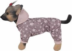"""Дождевик для собак """"Dogmoda"""", двухсторонний, унисекс, цвет: пудра. Размер S"""