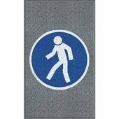 """Противоскользящий мат с логотипом """"Для пешеходов"""", крупное зерно, серый (900 x 1500мм вертикальный) {BMESQ005F..."""