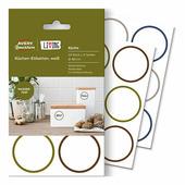 Этикетки living для кухни белые, удаляемые Ø 48 мм (24 этикетки) {62001}