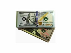 """Сувенирный блокнот Филькина грамота """"Доллары"""", 326-OBN000002, 2 шт"""