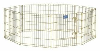 """Вольер для животных """"Midwest"""", цвет: золотой, 61 см х 61 см"""