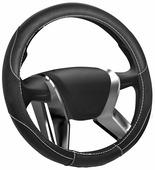 """Оплетка на руль Senator """"Michigan"""", цвет: черный, диаметр 38 см"""