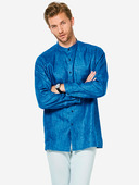 Электронная выкройка Burda - Мужская рубашка с воротником-стойкой №6349 B