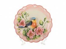 Тарелка настенная декоративная Птица диаметр 20 см высота 4 см (am59-171)