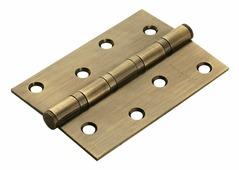 Петля дверная универсальная стальная с 4-мя подшипниками Rucetti RS 100X70X2.5-4BB AB