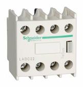 Дополнительный контакт фронтальный 2НО+2НЗ с опережением Schneider Electric, LADC22