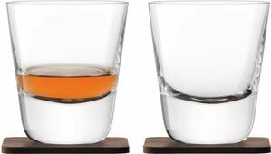 Набор стаканов LSA Arran Whisky, с подставками, 250 мл, 4 предмета