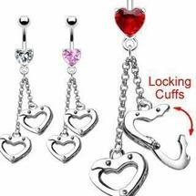 Пирсинг для пупка Сердце из наручников 1 шт Spikes