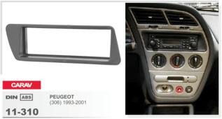 CARAV 11-310 - Peugeot (306) 1993-2001 1-DIN