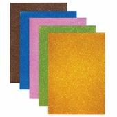 Цветная пористая резина для творчества (пенка в листах), А4, 210х297 мм, BRAUBERG, 5 листов, 5 цветов, с супер