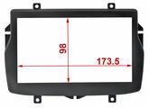Переходная рамка для установки магнитолы Incar RLA-N01 - Переходная рамка LADA Vesta 2din (крепеж)