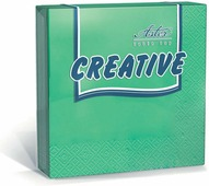 Салфетки бумажные Aster Creative, зеленый, 3-слойные, 24 х 24 см, 20 шт