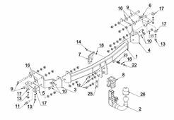 Фаркоп Auto-Hak для Kia Sorento 2012-2014 автомат вертикал