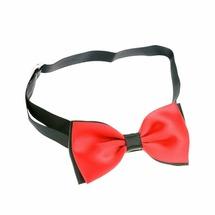 Petmax Галстук-бант красный с черным