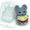 Мышь с полукруглым сыром пластиковая форма для мыла