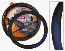 Оплетка для руля Nova Bright-fusion, перфорированная, размер L, черный, синий