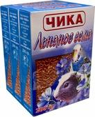 """Добавка к зоокорму Чика """"Льняное семя"""" для птиц, 4620770270340, 3 шт по 200 г"""