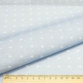 """Ткань Кустарь """"Совушки и птички №16"""", цвет: голубой, белый, 48 х 50 см"""