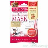 JAPAN GALS Pure 5 Essence Маска для лица, курс 30шт, с натуральными керамидами | 30шт | Pure 5 Essence Mask, Ceramide, 30P