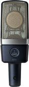 """AKG C214 конденсаторный микрофон с 1"""" мембраной. Диаграмма кардиоида. В комплекте: H85 держатель антивибрационный, W214 ветрозащита, кейс жесткий"""