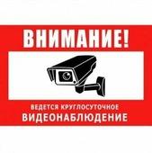 Табличка информационная Табличка 300х200 мм (Видеонаблюдение)