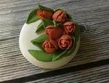 Тюльпаны на круге силиконовая форма 3D