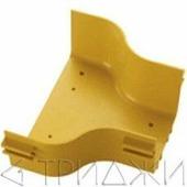 Горизонтальный переход с лотка 360 мм на лоток 240 мм, желтый