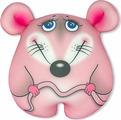 Игрушка-антистресс Штучки, к которым тянутся ручки Мышка Стесняшка малая, символ Нового года 2020, розовая