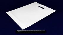Пакет ПВД белый, с вырубной ручкой 40*50 60мкм, активированный, для шелкографии.5678/0211-6