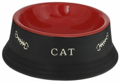"""Миска для кошек Nobby """"Cat"""", цвет: красный, черный, 140 мл"""