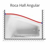 Карниз для ванны Roca Hall Angular 150 (Рока)