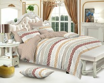 Комплект постельного белья Amore Mio Gold, 9319, бежевый, 2-спальный, наволочки 70x70