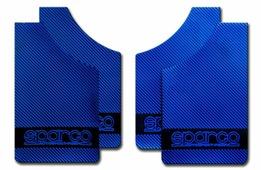 Брызговик универсальный для легковых карбон металлик синий, компл 4шт