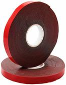 Скотч двухсторонний Rexant, 9 мм х 5 м, серый, на HBA акриловой основе, защитная красная пленка {09-6009}