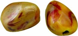 """Набор бусин """"Tesоro"""", цвет: темно-красный, коричневый (20), 18 х 14 мм, 2 шт"""