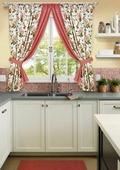 """Комплект штор для кухни KauffOrt """"Лилу"""", на ленте: 2 портьеры 175 x 175см, 2 подхвата"""