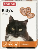 "Лакомство витаминизированное Beaphar ""Kitty's Protein"" для кошек, с рыбой, 75 таблеток"